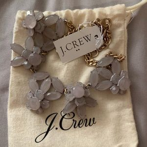 Lavender J. Crew statement necklace